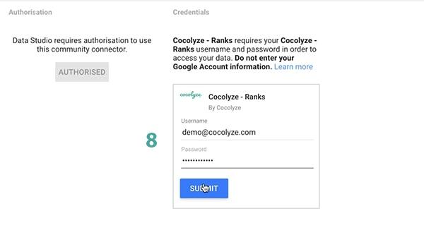 data studio login cocolyze